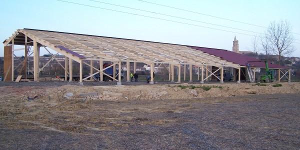 Bâtiment stockage matériel agricole