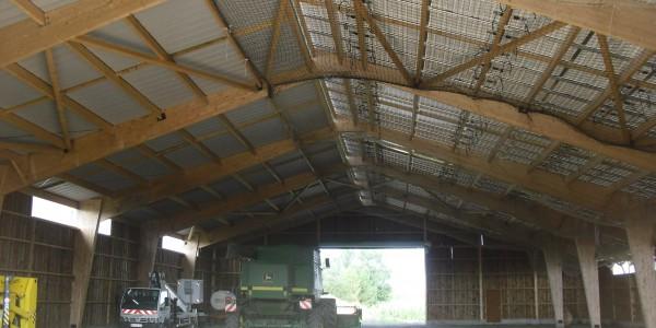 bâtiment bois stockage matériel