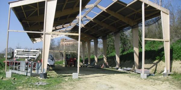 bâtiment stockage foin