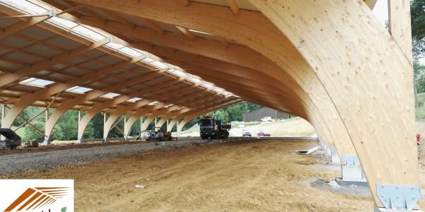 Structure Lamellé Collé en arc