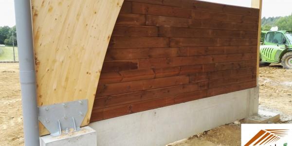 Mur bois pour contention animaux